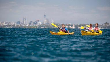 Sea Kayaking on the Hauraki Gulf Auckland.