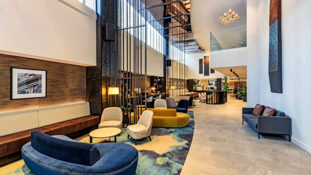 4 star Hotel lobby at Four Points by Sheraton Hotel in Auckland CBD