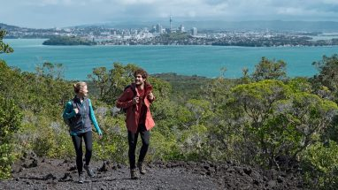 Couple Hike to the summit of Rangitoto Island in Auckland