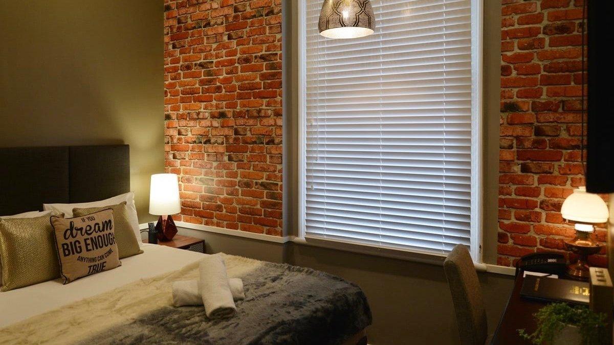 Auckland City Hotel brick interior