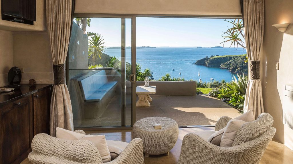 View of the sea from Delamore Lodge Hotel 5 Star Suite