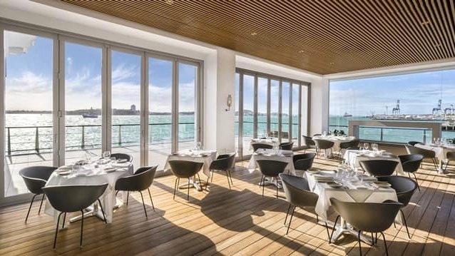 5 star Hilton Hotel Restaurant at Viaduct Harbour