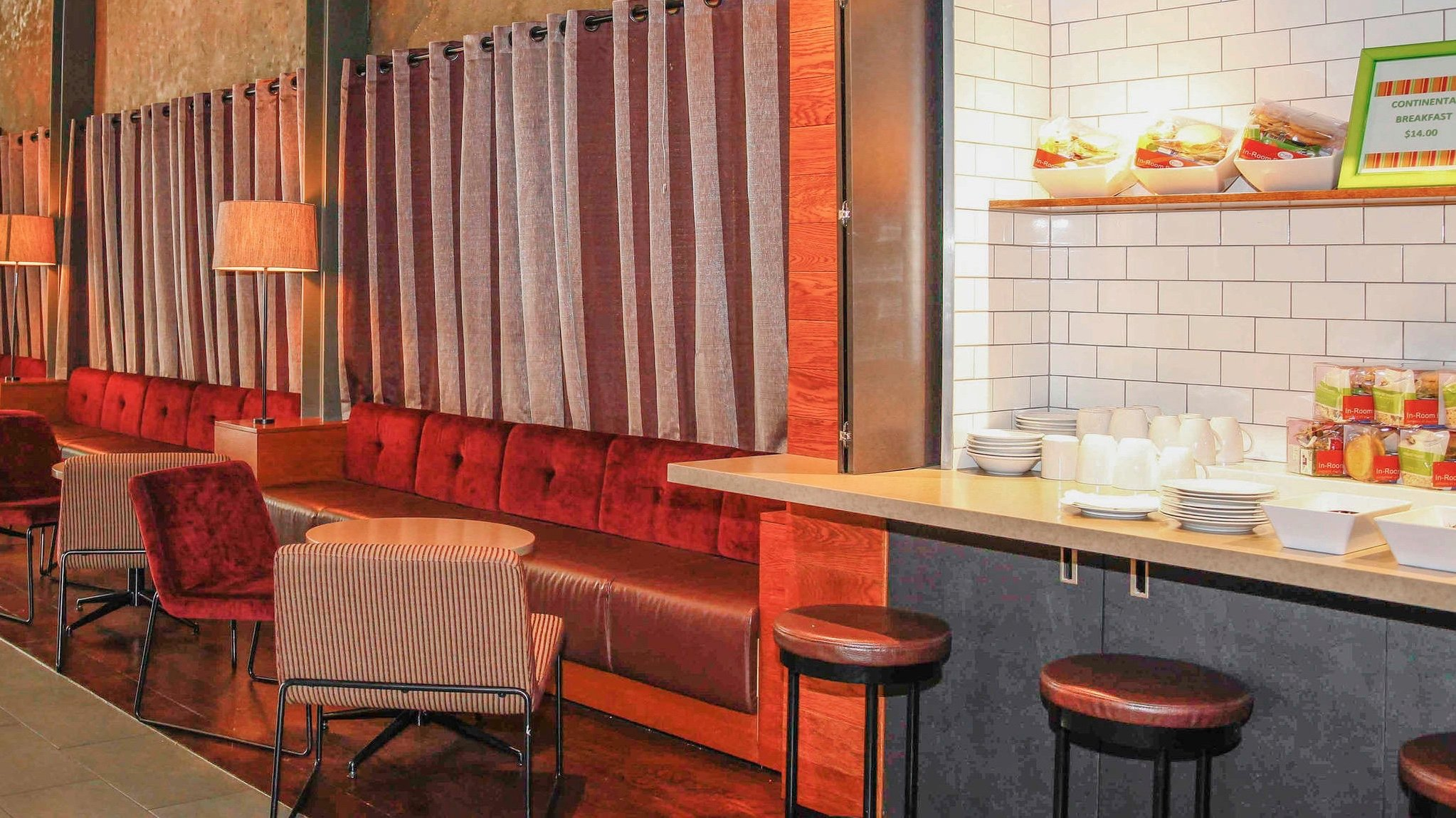 IBIS budget hotel breakfast bar
