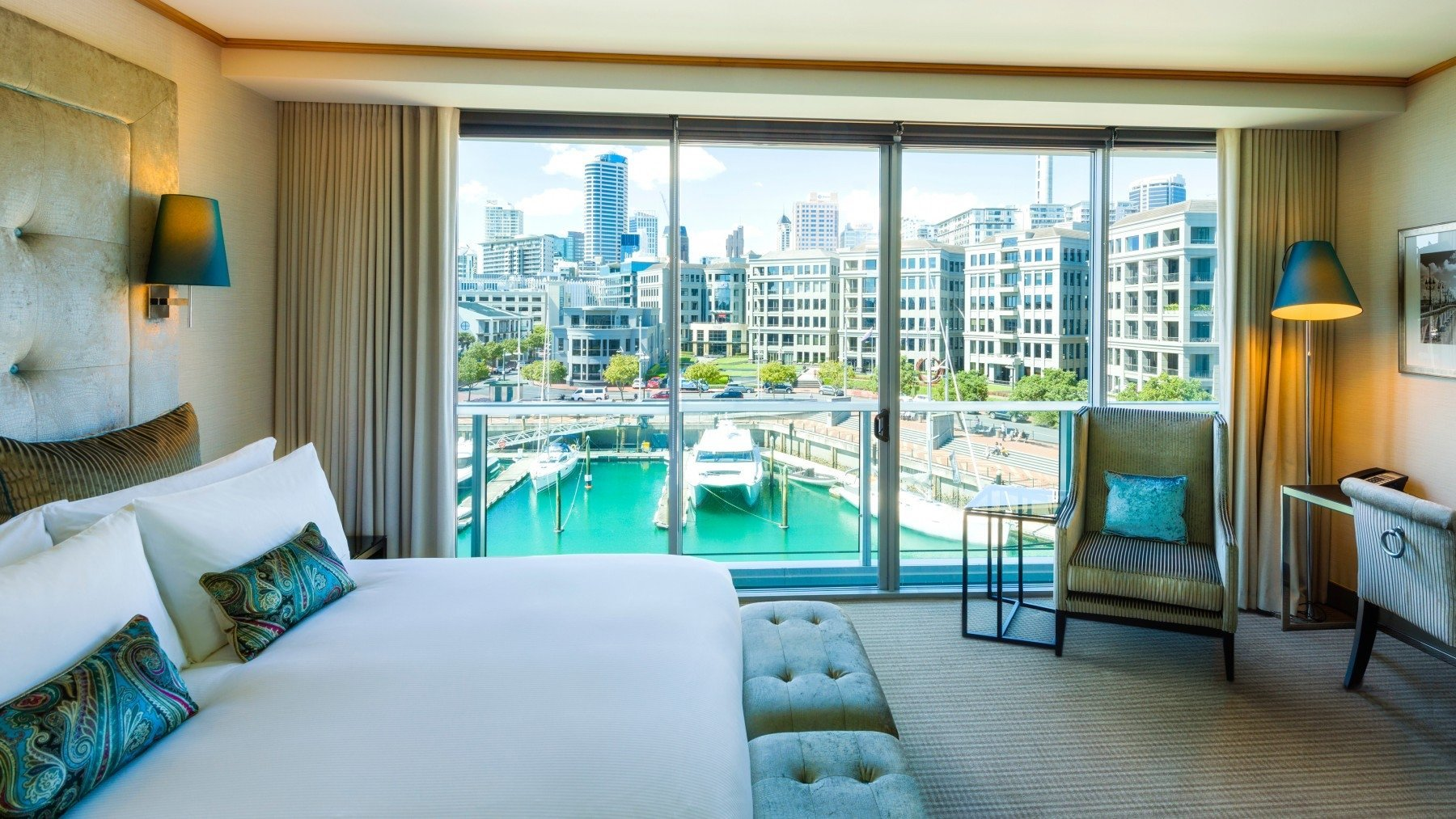 Luxury Marina View Room Sofitel Viaduct Harbour 5 star luxury hotel room