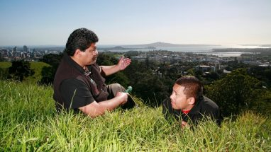 best views of Auckland city from Mt Eden.
