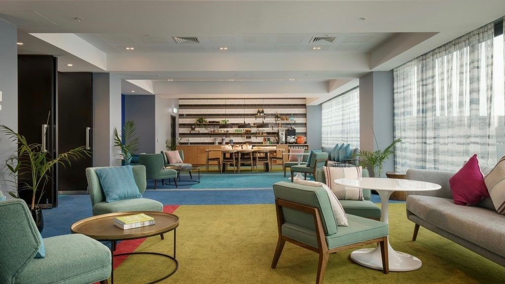 M Social stylish 4 star hotel guest lounge near Viaduct Harbour