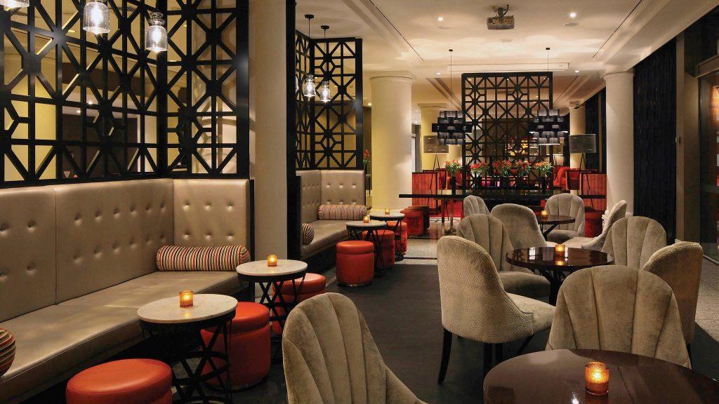 Funky bar at 5 star Pullman Hotel