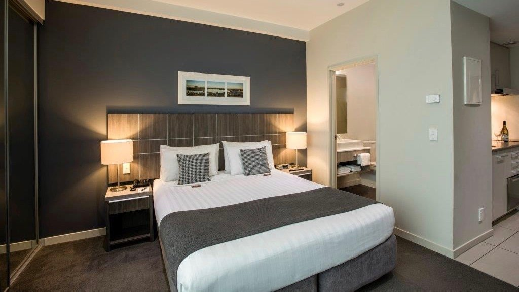 Quest Hotel Executive room in Highbrook, Auckland.