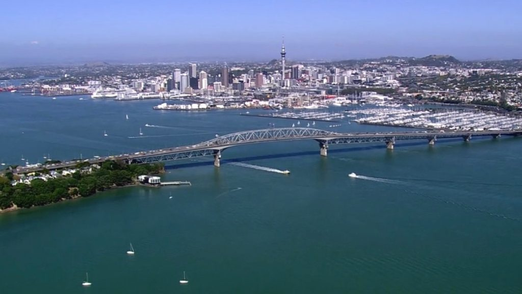 Auckland Harbour Bridge and City