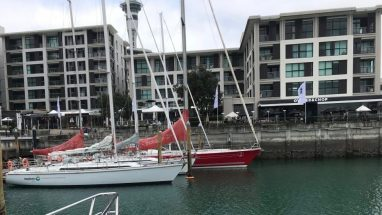 Boats moored in Viaduct Harbour The Sebel Hotel in background