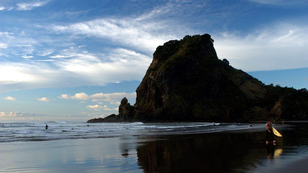 Piha Beach Black Sand