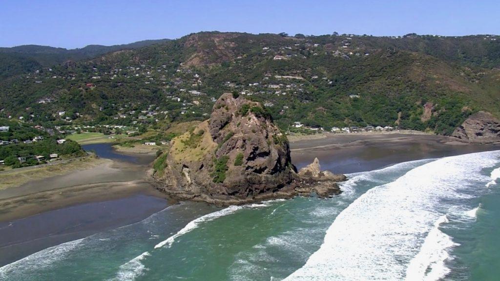 Piha Beach from the Sea