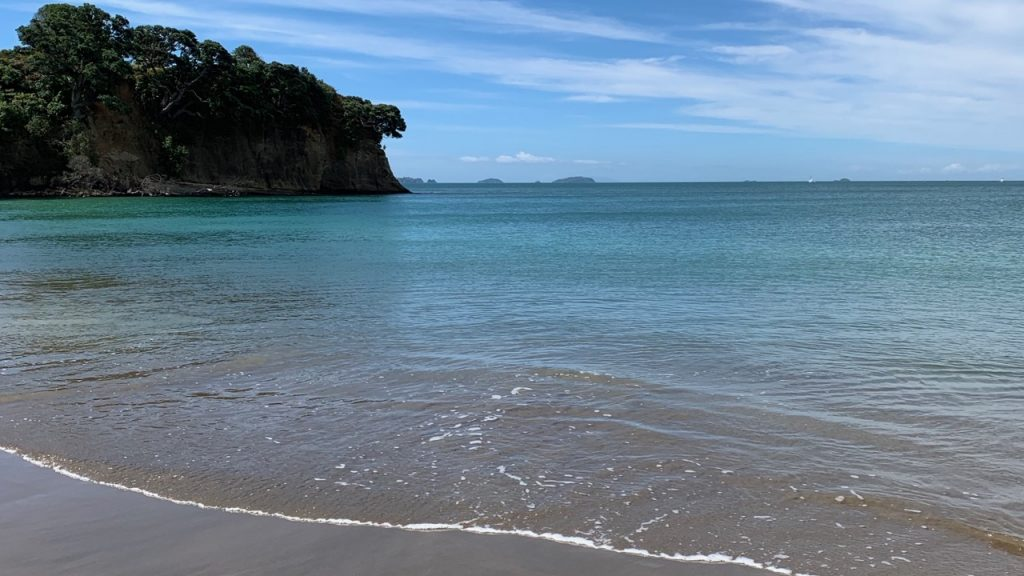 beautiful swimming beach at Motuihe Island