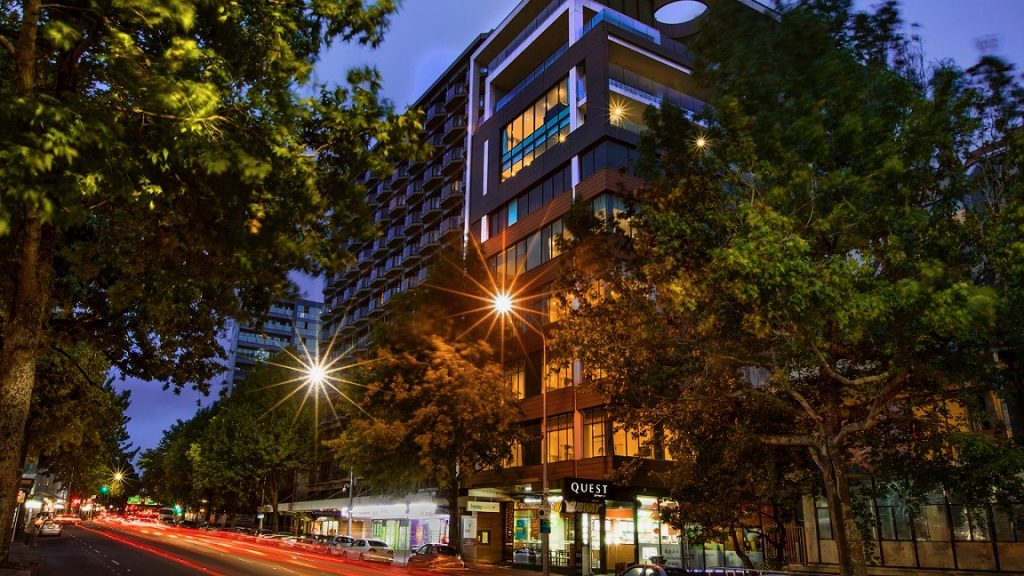 Quest Serviced Apartment Hotel on Hobson Street in Auckland CBD.