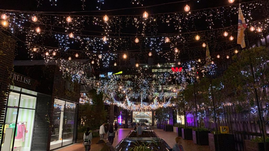 Britomart Lights at Night