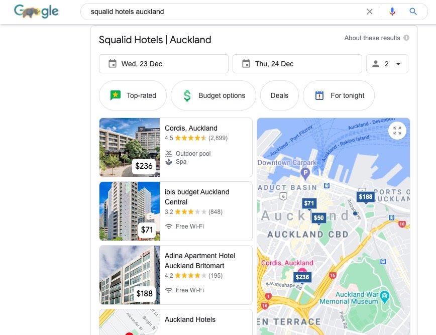 Squalid Hotels Auckland