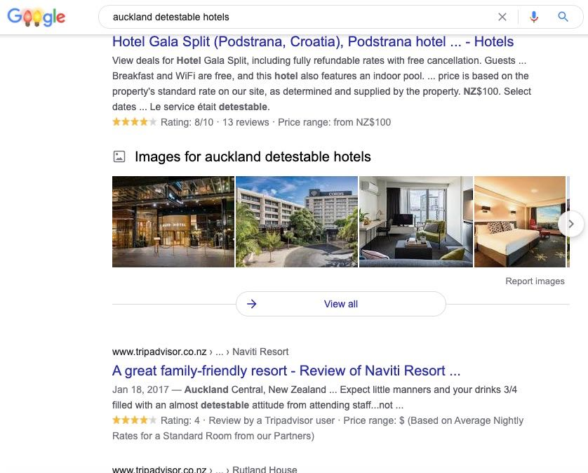 detestable hotels Auckland