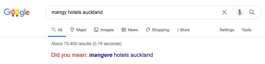 Mangy Hotels Auckland, did you mean Mangere?