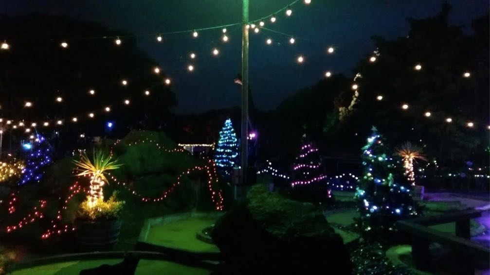 Lilliputt Mini Golf at Night