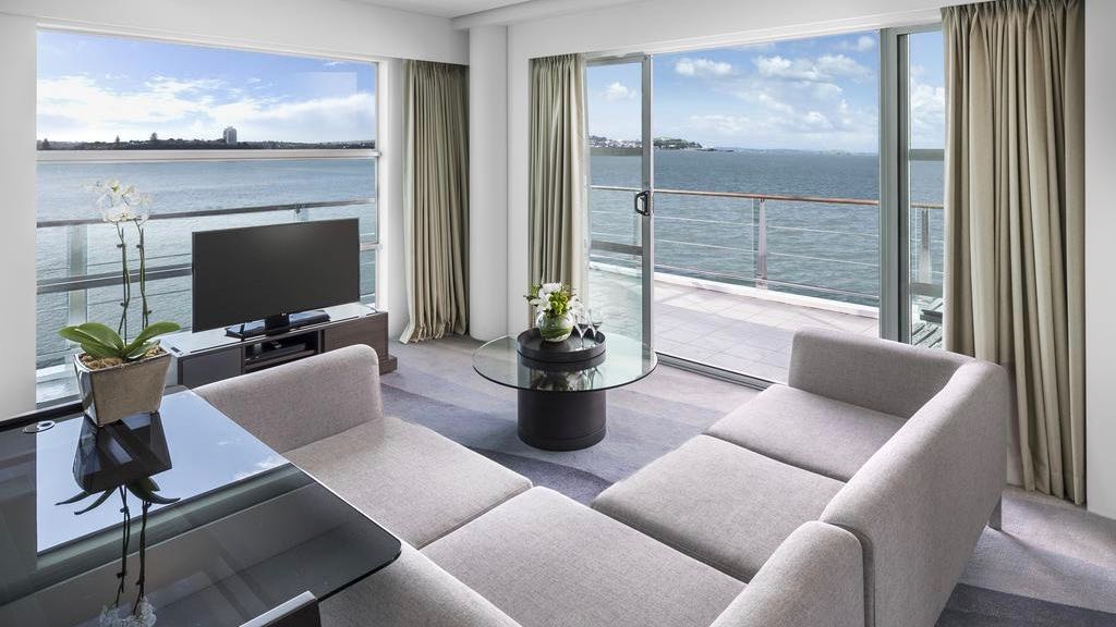 Hilton Auckland Views from ideal honeymoon suite